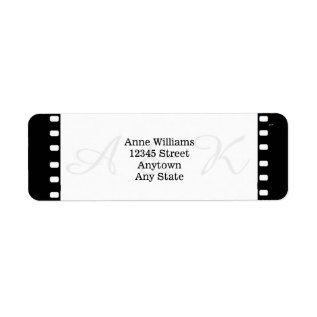 Wedding With A Movie Film Theme Label at Zazzle