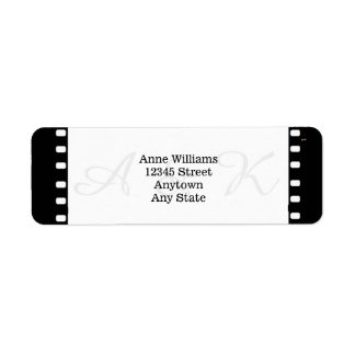 Wedding With A Movie Film Theme Label