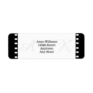 Wedding With A Movie Film Theme Labels