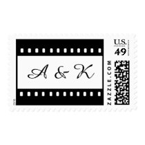 Wedding With A Movie Film Theme Stamps at Zazzle