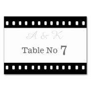Wedding With A Movie Film Theme Table Card at Zazzle