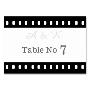 Wedding With A Movie Film Theme Table Card by DigitalDreambuilder at Zazzle