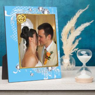 Wedding with Diamonds Add Photo Plaque