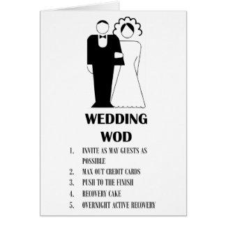 Wedding WOD Card