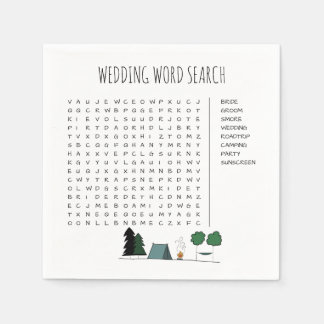 Wedding Word Search Cocktail Napkins