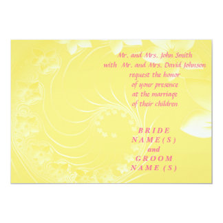 Wedding - Yellow Abstract Flowers Card