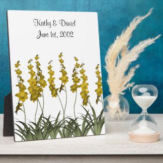 Wedding Yellow Flowers Plaque