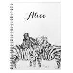 Wedding zebras spiral note book