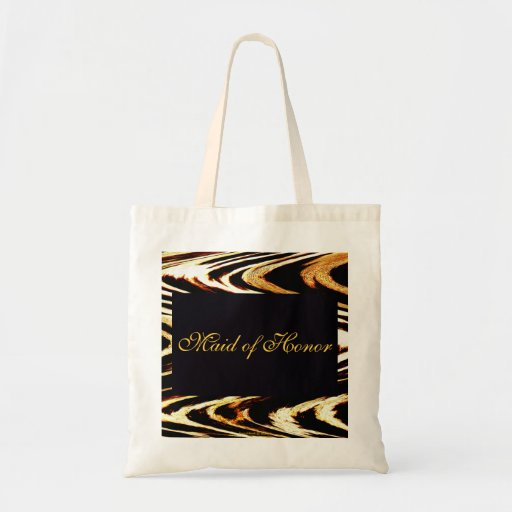 Wedding Zigzag of Tiger Chevron Maid of Honor 2013 Budget Tote Bag