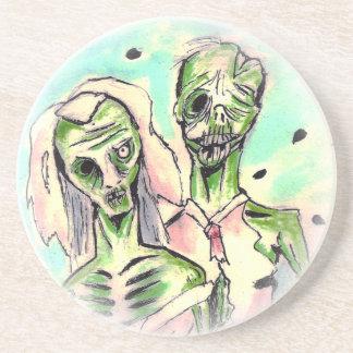 Wedding Zombies Beverage Coaster