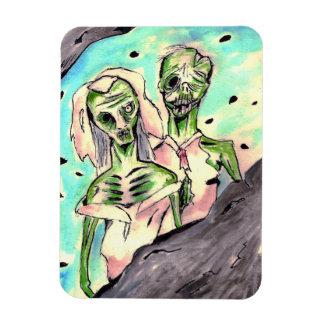 Wedding Zombies Rectangular Photo Magnet