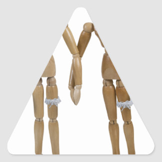WeddingBrideBride121512.png Pegatina Triangular