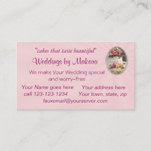 Marriage consultant business cards templates zazzle weddingcakebizcard customize business card reheart Image collections