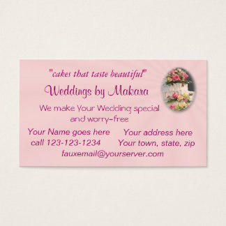 Cake making business cards gallery card design and card template bridal shop business cards templates zazzle weddingcakebizcard customize business card reheart gallery reheart Images