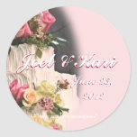 WeddingCakeSticker-customize Classic Round Sticker