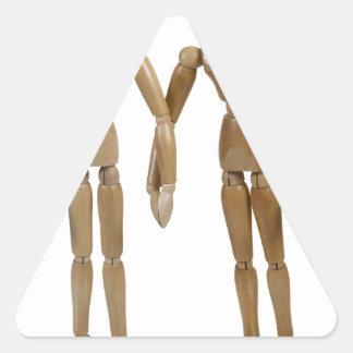 WeddingGroomGroom121512.png Pegatina Triangular