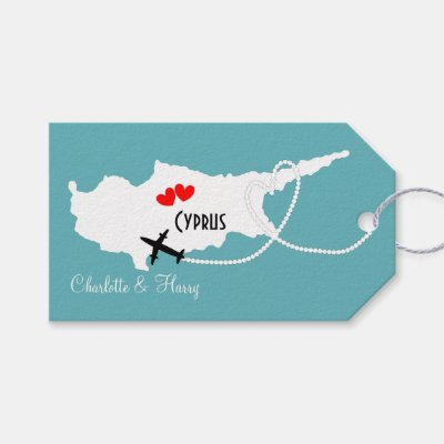 Weddings Abroad Cyprus Personalized Gift Tags
