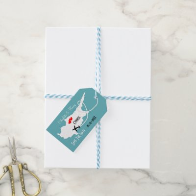 Weddings Abroad Cyprus Save The Date Gift Tags