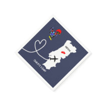 Weddings Abroad Portugal Personalized Paper Napkins