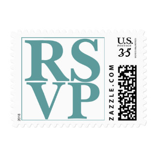 Weddings Beautiful RSVP Letters Cadet Blue Postage Stamp