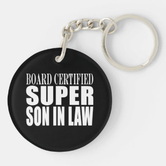 Weddings Birthdays Parties : Super Son in Law Double-Sided Round Acrylic Keychain