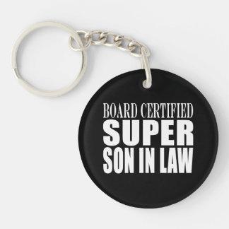 Weddings Birthdays Parties : Super Son in Law Single-Sided Round Acrylic Keychain