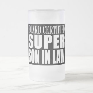 Weddings Birthdays Parties : Super Son in Law 16 Oz Frosted Glass Beer Mug