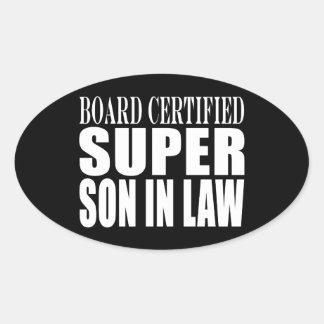 Weddings Birthdays Parties : Super Son in Law Oval Sticker
