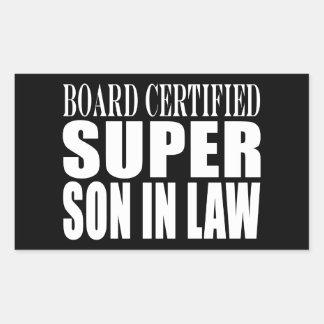 Weddings Birthdays Parties : Super Son in Law Rectangular Sticker