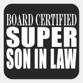 Weddings Birthdays Parties : Super Son in Law Square Sticker
