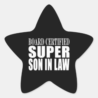 Weddings Birthdays Parties : Super Son in Law Star Sticker