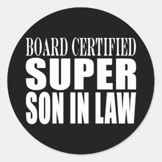 Weddings Birthdays Parties : Super Son in Law Classic Round Sticker