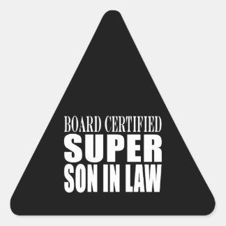 Weddings Birthdays Parties : Super Son in Law Triangle Sticker