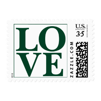 Weddings Contemporary Love Design Deep Forest Postage