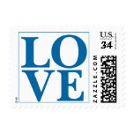 Weddings Cute Love Design Sapphire Blue Postage Stamp