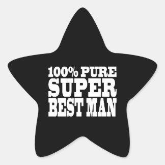 Weddings Favors Thanks : 100% Pure Super Best Man Star Sticker