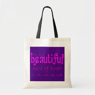 Weddings Favors & Tokens : Beautiful Maid of Honor Canvas Bag