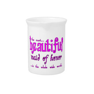 Weddings Favors Tokens Beautiful Maid of Honor Pitcher