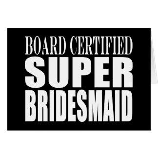 Weddings Favors Tokens & Thanks : Super Bridesmaid Card