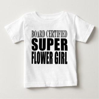 Weddings Favors Tokens & Thanks Super Flower Girl Baby T-Shirt