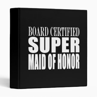 Weddings Favors Tokens Thanks Super Maid of Honor 3 Ring Binder
