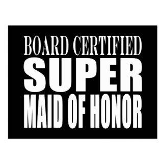 Weddings Favors Tokens Thanks Super Maid of Honor Postcard