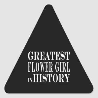 Weddings : Greatest Flower Girl in History Sticker
