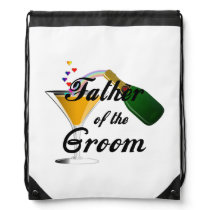 Weddings Grooms Father Drawstring Backpack