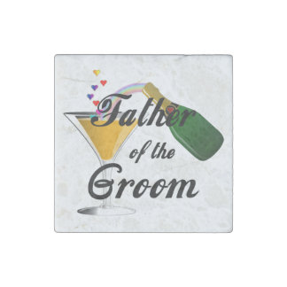Weddings Grooms Father Stone Magnet