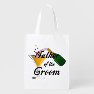 Weddings Grooms Father Grocery Bag