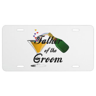Weddings Grooms Father License Plate