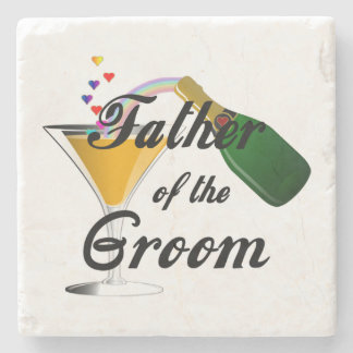 Weddings Grooms Father Stone Coaster
