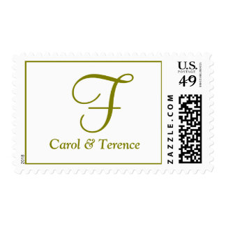 Weddings Initial Perfect Heart Gold Postage