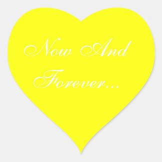 Weddings Invite Yellow Heart Sticker